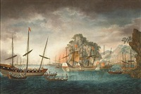 ships in a harbor during a pirate attack by anglo-chinese school (19)