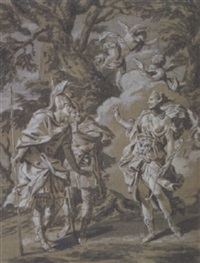 zwei heroen im gespräch mit diana by carl marcus tuscher