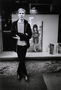 andy warhol mimics margaret keane waif, new york by steve schapiro