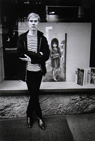 andy warhol mimics margaret keane waif new york by steve schapiro