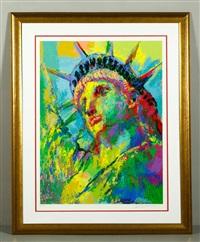 portrait of lady liberty by leroy neiman