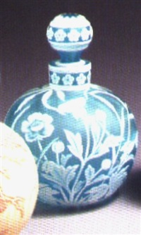 perfume bottle and stopper by thomas webb