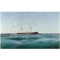 ship at sea by mikhail alisov