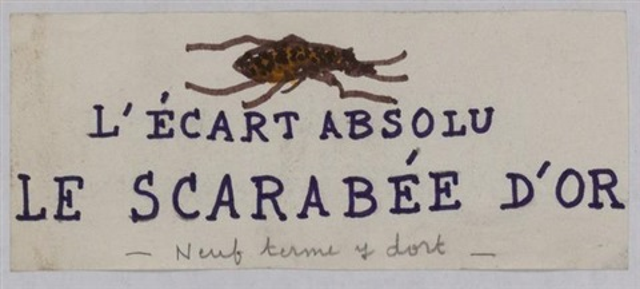 lécart absolu le scarabée dor by andré breton