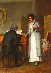 the music lesson by henry stacy marks