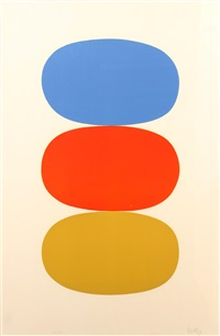 blue and orange and green by ellsworth kelly