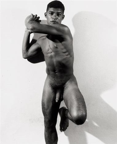 gymnast Nude black