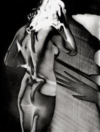 solarized female nude by heinrich heidersberger