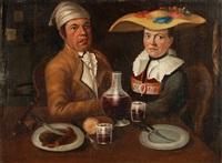 luzerner ehepaar am esstisch sitzend by joseph reinhart