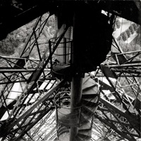 eiffel tower stairs by marcelle d' heïlly