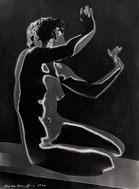 akt, hockende (solarisation) by marta hoepffner