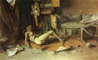 mannequin allongé dans un studio by etienne aimé ponson