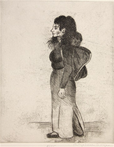 a group of etchings 3 works by raphael soyer