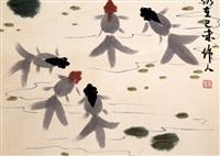 hanging scroll painting by zhou zuoren