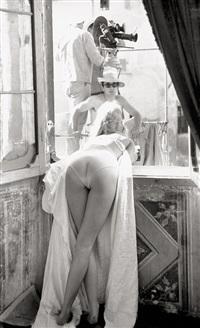 brigitte bardot between takes for the film vie privée in rome by patrick morin