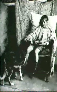 young boy with his dog by walter s. stacey