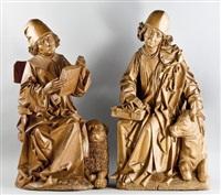 der evangelist markus (+ der evangelist lukas; 2 works by senoner wilhelm ortisei) by tilman riemenschneider