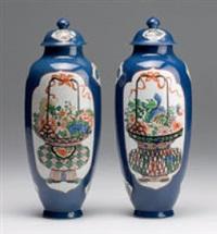 deckelvasen (pair) by maison samson (co.)
