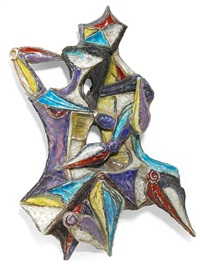 figural wall plaque by fantoni