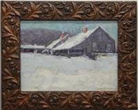 winter scene by henry ryan macginnis