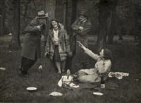 picnic at the bois de boulogne, paris by andré kertész