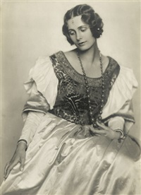 portrait of the actress sybille binder (1898-1962) in costume by trude fleischmann
