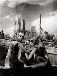 surreal couple; le pont-neuf (2 works) by marc foucault