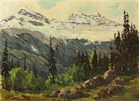 california hills and snow capped mountains (2 works) by william p. krehm