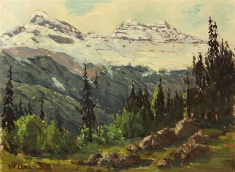 california hills and snow capped mountains 2 works by william p krehm