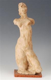 weiblicher dreiviertel-akt by arnold d' altri