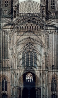 untitled (coutances cathedral) by roland fischer