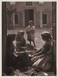 arabian children; oasis scene (2 works) by lehnert & landrock