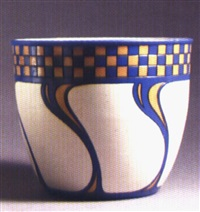 bowl with geometric devices by mettlach