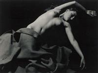 draped reclining female nude by ladislav postupa