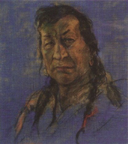 Blackfoot Indian He will be black his home, died 1949
