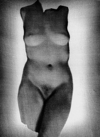 untitled nude female torso negative montage by heinz hajek halke