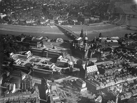 aerial view of dresden by walter hahn