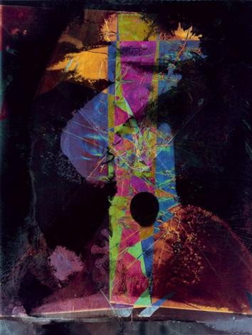 untitled, color lichtgraphik by heinz hajek-halke