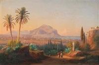 blick auf palermo und den monte pellegrino by johann-rudolph buhlmann
