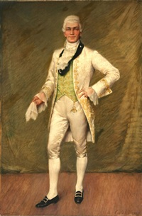 portrait of a gentleman with handkerchief by carle john blenner