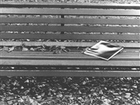 park bench with book by efraim habermann