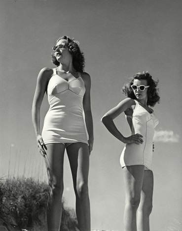 models in bathing suits by philippe halsman