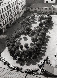 the yard in summer by alexander rodchenko