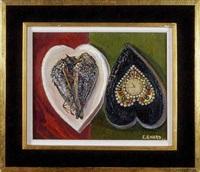 deux coeurs à l'oiseau et à la pendule by colette enard
