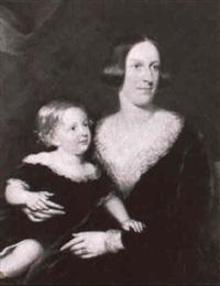 portrait of a mother and child by robert s. tait