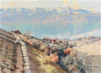 herbsttag am genfersee by paul lepinard