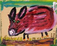 schwein in eile by rené gertsch
