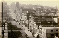 california street from sansome street, s.f., looking west by isaiah west taber