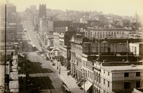 california street from sansome street sf looking west by isaiah west taber