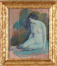 portrait of a nude female by samuel george phillips